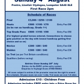 LAMPETER – Sunday 4th August